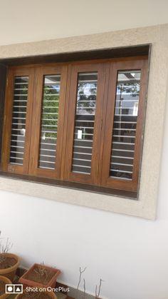 Indian Window Design, Front Window Design, Window Grill Design Modern, House Window Design, Wooden Front Door Design, Grill Door Design, Double Door Design, Pooja Room Door Design, Door Gate Design