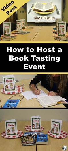 Instructional Video Post: How to Host a Book Tasting Event in a Classroom or Library #strugglingreaders