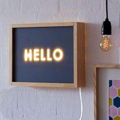 love this diy light box from Etsy Diy Luz, Neon Box, Licht Box, Ideias Diy, Deco Design, Diy Wood Projects, Diy Kits, Craft Kits, Diys