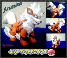 Pokemon - Arcanine Ver.2 Free Papercraft Download - http://www.papercraftsquare.com/pokemon-arcanine-ver-2-free-papercraft-download.html