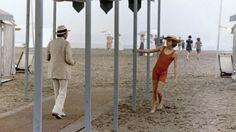 """Cena de """"Morte em Veneza"""", feita na praia de Lido. Post com as locações do filme no site: http://www.cinetour.com.br/CineTour/filmeitens/index/104"""