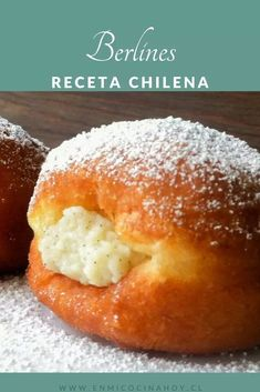 Berlines chilenos | En Mi Cocina Hoy Chilean Recipes, Chilean Food, Donut Filling, Cheese Pastry, Evening Meals, Nutritious Meals, Food Items, Sweet Recipes, Food And Drink