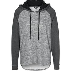 mbyM Hoodie (€77) ❤ liked on Polyvore featuring tops, hoodies, jackets, sweaters, shirts, grey, women's outerwear, sweatshirt hoodies, gray top and gray hoodie