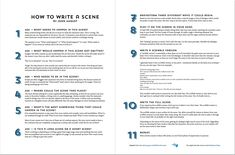 John August How To Write A Scene infographic for Screenplay Writers