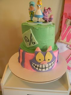 Love this cake at an Alice in Wonderland birthday party!  See more party ideas at CatchMyParty.com!