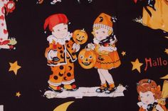 trick or treat black childrens apron by handyjan on Etsy