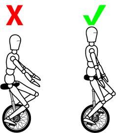 Monociclo: Erros Comuns (sentar muito em baixo)