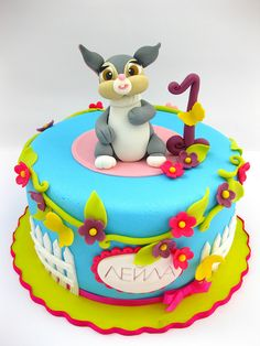 Tartas de cumpleaños - Birthday Cake - Easter bunny cake