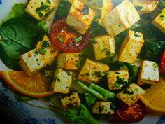 tofu ricette - con arance e insalata