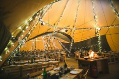 Gemma and Alan's Winter Tipi Wedding. By S6 Photography