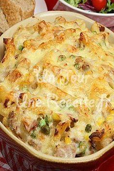 Photo de la recette Gratin de pâtes au thon et brocolis