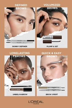 - Do you want to know how to achieve volume? Or perhaps how to create sharpness and definition? L'Oréal Paris ❤️eyebrows. We have exactly the product you're looking for❗️ Makeup To Buy, Loreal Paris, Makeup Inspo, Mascara, Eyebrows, Beauty Hacks, Hair Makeup, Hair Beauty, Make Up