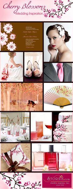 Cherry Blossoms Wedding Inspiration Board