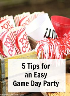 Game Day Party Tips — Celebrations at Home