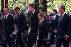 Princess Diana With William And Harry | Princes William and Harry walked behind Diana's coffin over fears for ...