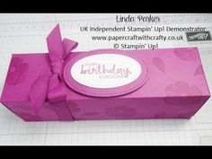 Linda Parker UK Independent Stampin' Up! Demonstrator from Hampshire @ Papercraft With Crafty : Long Hand-Stamped Fold Flat Box from a Piece of A4 cardstock - Lots of Love