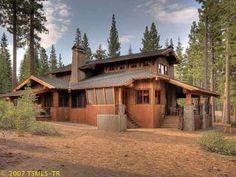 Martis Camp family barn cabin. Exterior.