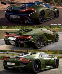 Army Green super car lineup