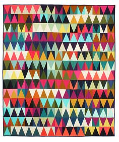 Triangles Quilt #2-Tara Faughnan