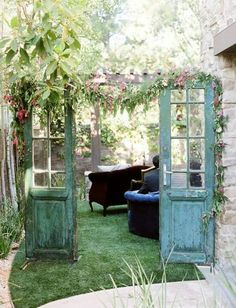 new use for old doors. Please enter my secret garden