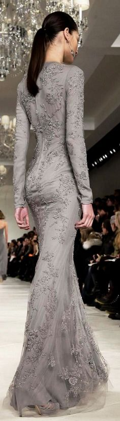 Ralph Lauren fall 2014. The perfect dress to wear to the Oscars:-) (next time I go, ha ha).
