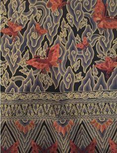 Batik cirebon megamendung kupu-kupu