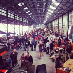 Every Saturday - full of life and great food. Eveleigh Market in Darlington, NSW