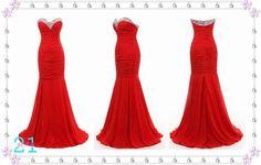 Beautifull red dress.
