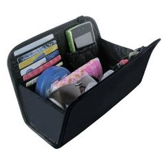 Purse Organizer Insert - great if you are taking a large, bottomless tote with you and you want all of your contents and documents to stay organized and in reach. If you want to change bags, all you have to do is remove the insert and put into your new bag.