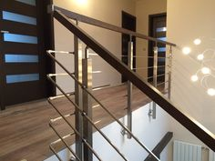 Nerezové zábradlí s dřevěným madlem House Plans, Sweet Home, Stairs, How To Plan, Home Decor, Stairway, Decoration Home, House Beautiful, Room Decor
