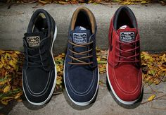 This Fall Nike treats us to the Nike SB Lunar Stefan Janoski in three new colorways! Check them out and let us know what you think.