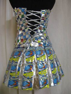 If your prom dress is made from ANYTHING you could find in the average pantry or refrigerator, you might regret it. I don't care how much companies are paying you to use their products to construct clothing...this will haunt you!