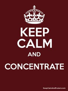 Keep Calm and CONCENTRATE  Poster