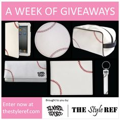 Celebrate #MLB Opening Day with #giveaways ALL WEEK LONG from Zumer Sport! #baseball #sports #sportsfans #leather #ipad #cover #coasters #travel #bag #wallet #keychain www.thestyleref.com