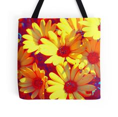 "'""Kiwi Lifestyle"" - Daisy Sunrise' Tote Bag by Sue Skellern Framed Prints, Canvas Prints, Art Prints, Kiwi, Art Boards, Chiffon Tops, Duvet Covers, Sunrise, Daisy"