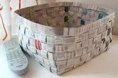 Artesanato com jornal � 10 ideias espetaculares