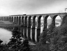 Designed by Robert Stephenson, the Royal Border Bridge at Berwick, Northumberland, spans the River T... - Mirrorpix