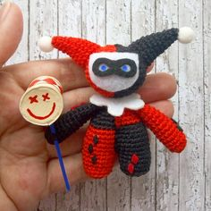 lassic Harley Quinn Toy DC, Crochet Amigurumi Plushie Toy Gift, Suicide Squad