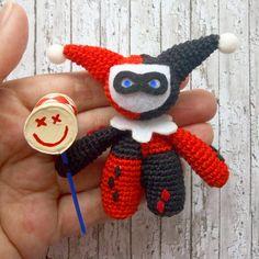 amigurumi Harley Quinn classic crochet toy DC Comics