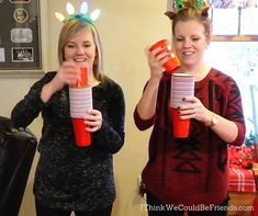 Our 6 FAVORITE Christmas Minute to Win it Games (All with Dollar Store items!)