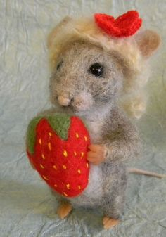 Needle Felted Strawberry — Crafthubs                                                                                                                                                      More