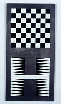 Sherrie Levine (artist), Lead Checks / Lead Chevron: 4, 1988.