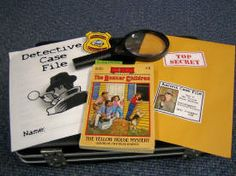 reading detectives would be a great center activity for high students. printable detective pages and book suggestions
