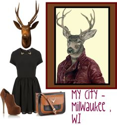 """""""Milwaukee, WI, USA - Bucking the Trend"""" by latoyacl ❤ liked on Polyvore"""