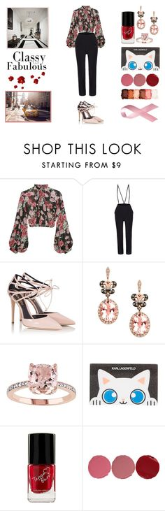 """""""Black to the pink"""" by n-ailee-it ❤ liked on Polyvore featuring Jill Stuart, Fratelli Karida, Effy Jewelry, Karl Lagerfeld, Charlotte Tilbury and NYX"""