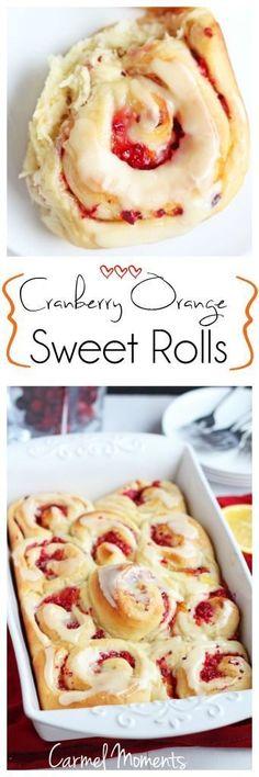 Cranberry Orange Sweet Rolls   carmelmoments.com