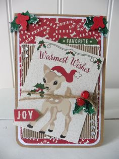 't Scrap Ateljeetje: Demo-Dag 20-08: Christmas Cards Authentique Retro Christmas