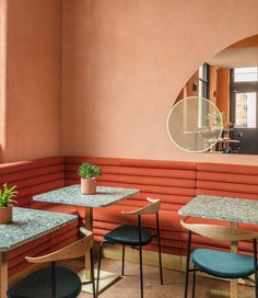 Sella Concept combines Mediterranean hues and textures for London tapas restaurant Omar's Place 2018 Interior Trends, Interior Design London, Restaurant Interior Design, Commercial Interior Design, Cafe Interior, Best Interior, Modern Interior Design, Interior Design Inspiration, Interior Architecture