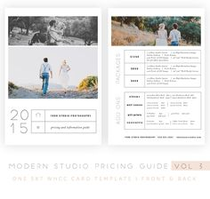 Modern Studio Pricing Guide vol 3 is a 5×7 Card Template designed for photographers' use. Fully customizable and editable.ᅠ – Fully layerd PSD Files . Photoshop or Elements required.ᅠ – Name of the fonts included.ᅠ – Photo clipping mask .ᅠ All of my templates come with PRO PHOTOGRAPHER LICENCE which means you are allowed to …