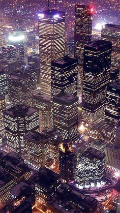 City At Night Lights iPhone 6 Wallpaper